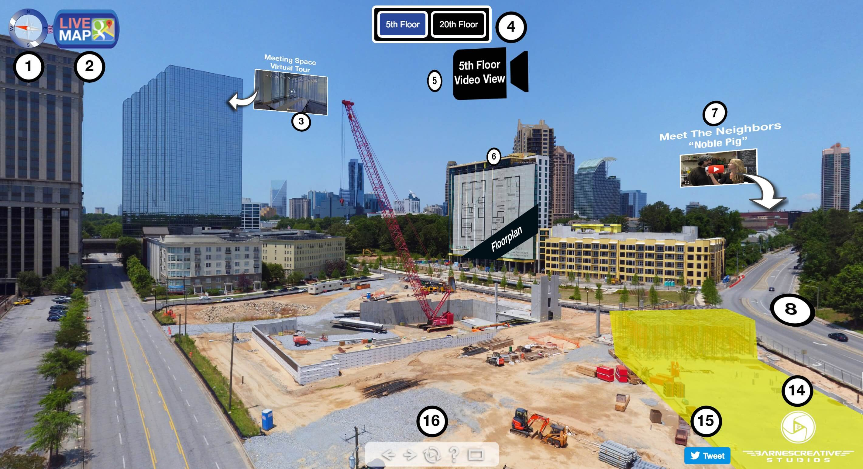 Commercial Real Estate - Pre Construction Views with Panorama & Video